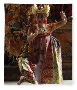 Beauty Of The Barong Dance 3 Fleece Blanket