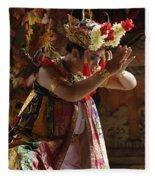 Beauty Of The Barong Dance 4 Fleece Blanket