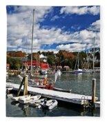 Beauty Of The Harbor Fleece Blanket