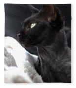 Beauty Of The Rex Cat Fleece Blanket