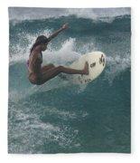 Beauty On A Surf Board Fleece Blanket