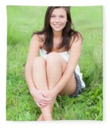 Beauty Portrait Fleece Blanket