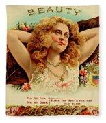 Beauty Vintage Cigar Advertisement  Fleece Blanket
