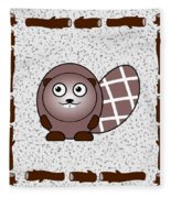 Beaver - Animals - Art For Kids Fleece Blanket