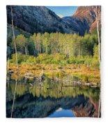 Beaver Lake Sierra Nevada Mountains Fleece Blanket