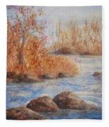 Beaver Pond Fleece Blanket