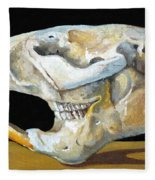 Beaver Skull 1 Fleece Blanket