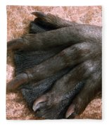 Beavers Hind Foot Fleece Blanket