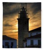 Beavertail Lighthouse Too Fleece Blanket