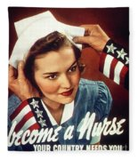 Become A Nurse Fleece Blanket