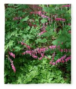 Bed Of Bleeding Hearts Fleece Blanket