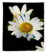 Bed Of Daisy's For Daisy Fleece Blanket