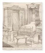Bedchamber Furniture In The Japanese Fleece Blanket