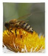 Bee At Work Fleece Blanket
