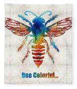 Bee Colorful - Art By Sharon Cummings Fleece Blanket