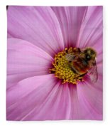 Bee Cosmos Fleece Blanket