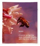 Bee Haiku Fleece Blanket