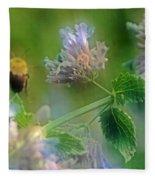 Bee In Catmint Fleece Blanket