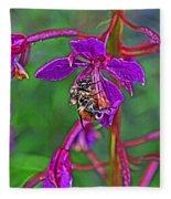 Bee In Hdr Fleece Blanket