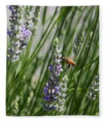 Bee In Lavender Fleece Blanket