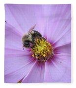 Bee On Cosmos Fleece Blanket