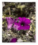 Bee To A Flower Fleece Blanket