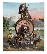 Beer Ad C1870 Fleece Blanket