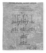 Beer Brewery Patent Charcoal Fleece Blanket