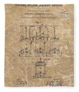 Beer Brewery Patent Illustration Fleece Blanket