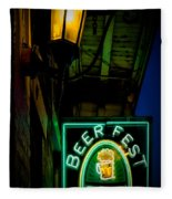 Beer Fest And Lamp Fleece Blanket