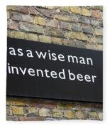 Beer Sign Fleece Blanket