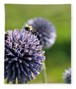 Bees On Globes Fleece Blanket