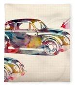 Beetle Car Fleece Blanket