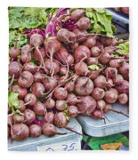 Beets At The Farmers Market Fleece Blanket