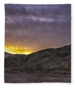 Before The Sun Fleece Blanket