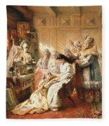 Before The Wedding, 1890 Oil On Canvas Fleece Blanket