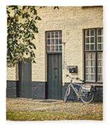 Begijnhof Bicycle Fleece Blanket