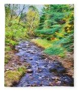 Beginning Autumn Changes Fleece Blanket