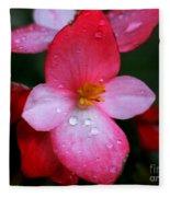 Begonia Fleece Blanket