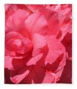 Begonia Named Non-stop Pink Fleece Blanket