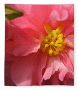 Begonia Named Nonstop Pink Fleece Blanket