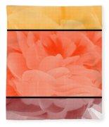 Begonia Petals Triptych Fleece Blanket
