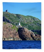 Behind Fort Amherst Rock By Barbara Griffin Fleece Blanket