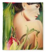 Behind The Curtain Of Colours -the Tulip Fleece Blanket