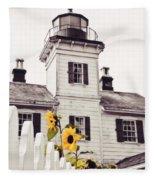 Behind The Lighthouse  Fleece Blanket