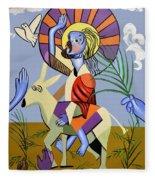 Behold The Lamb Of God Fleece Blanket