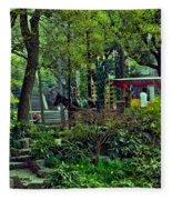 Beijing Gardens Fleece Blanket
