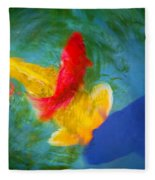 Being Koi Too Fleece Blanket