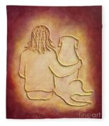 Being There 3 - Dog And Friend Fleece Blanket