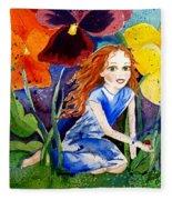 Tiny Flower Fairy Fleece Blanket